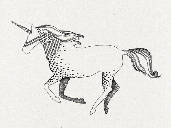 Eenhoorn tijdelijke tatoeage
