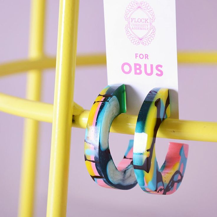 "490 Likes, 27 Comments - Obus (@obusclothing) on Instagram: ""Excited to have a range of Flock Curiosity Assembly  hand made resin earrings dropping into our…"""