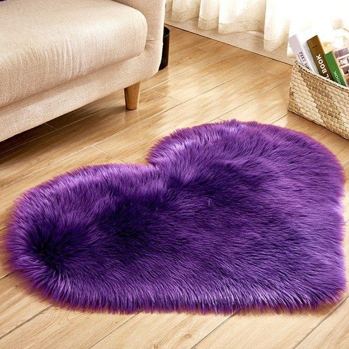 Simple Love Shape Wool Like Carpet Floor Rugs Rugs On Carpet Fluffy Rug