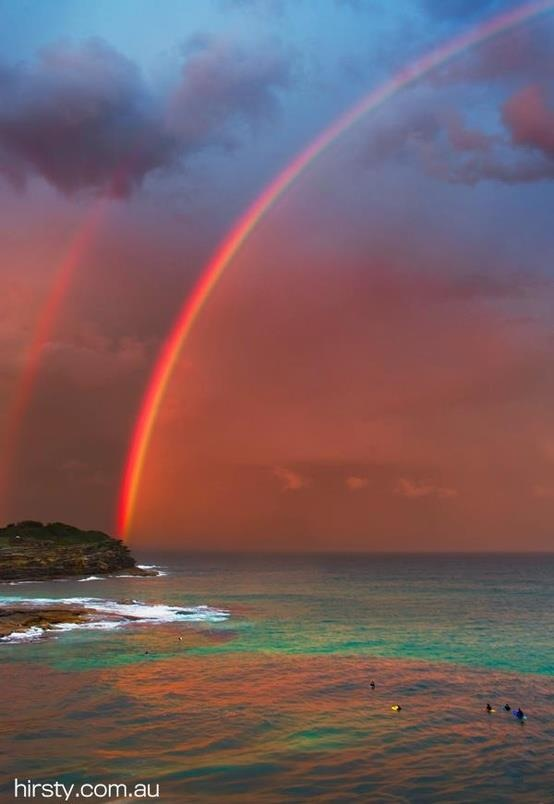 my sister and I have had this thing for years, whenever we see a rainbow, it's gonna be a great weekend