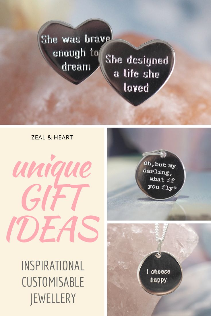 Unique gift ideas, sterling silver pendants with customisable messages. Choose from inspirational quotes, sweary declarations, or personal messages. Designed by an independent jewellery maker, shipped internationally.
