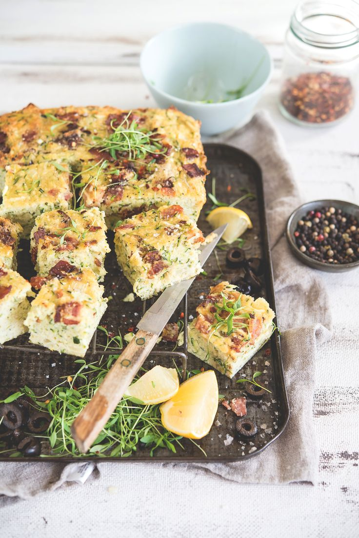 This Clean Zucchini Slice comes from Lizzy Marsh. Perfect for breakfast or an on-the-go snack, and sans dairy and gluten, this zucchini slice will suit any situation or dietary requirements.
