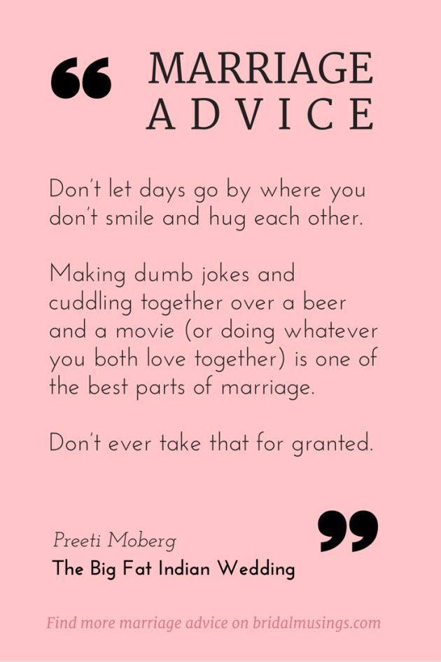 Advice for a new bride