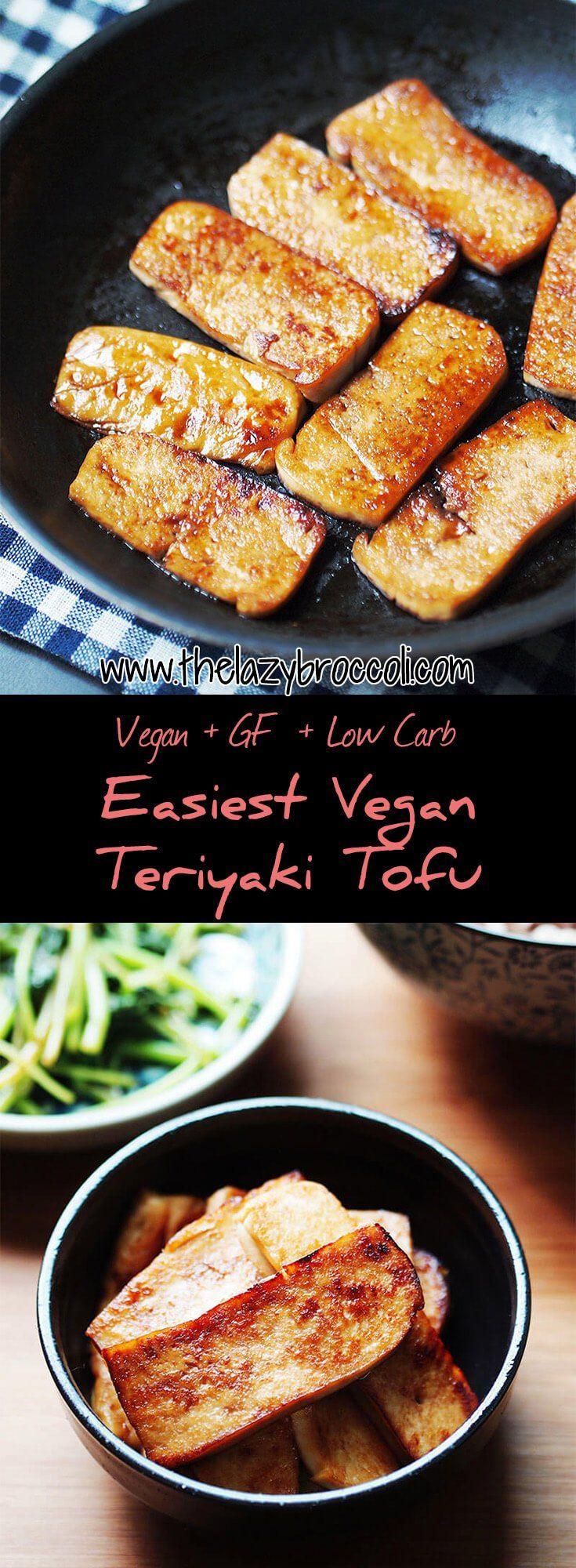 This teriyaki tofu requires only 5 ingredients, 1 pan, and 15 minutes! It's super easy yet it's soooo delicious! #vegan #vegetarian #tofu #teriyaki #lowcarb #protein #glutenfree #noonionnogarlic #asian #japanese #recipe