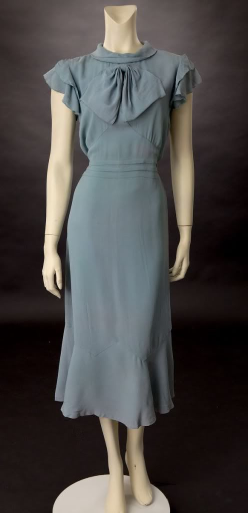 Living with Jane: 1930's Dress: Gunmetal-Grey