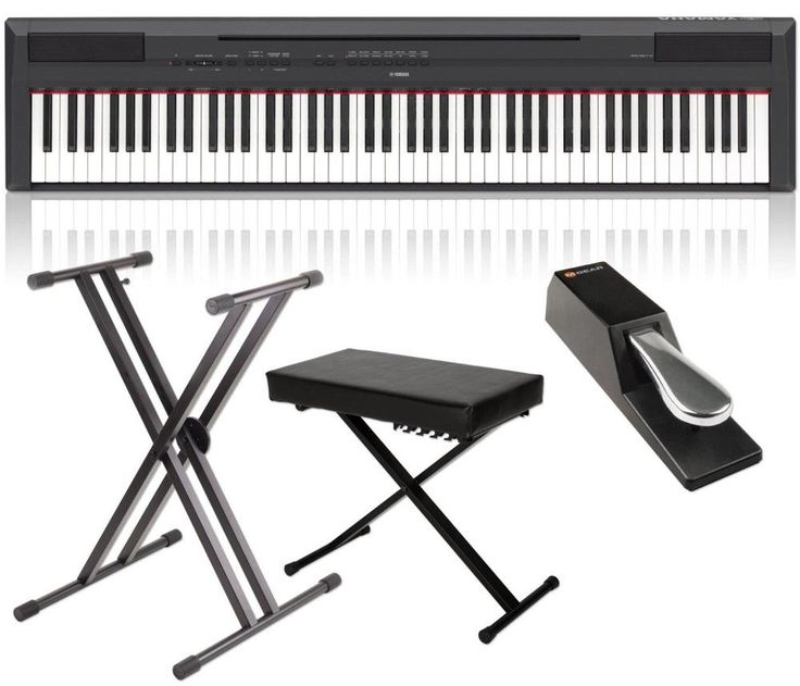 Yamaha P-115 88-Key Weighted Action Digital Piano Packages Black Home Package