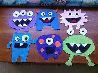 Felt Monsters - love this as a DIY Felt Board Set!!