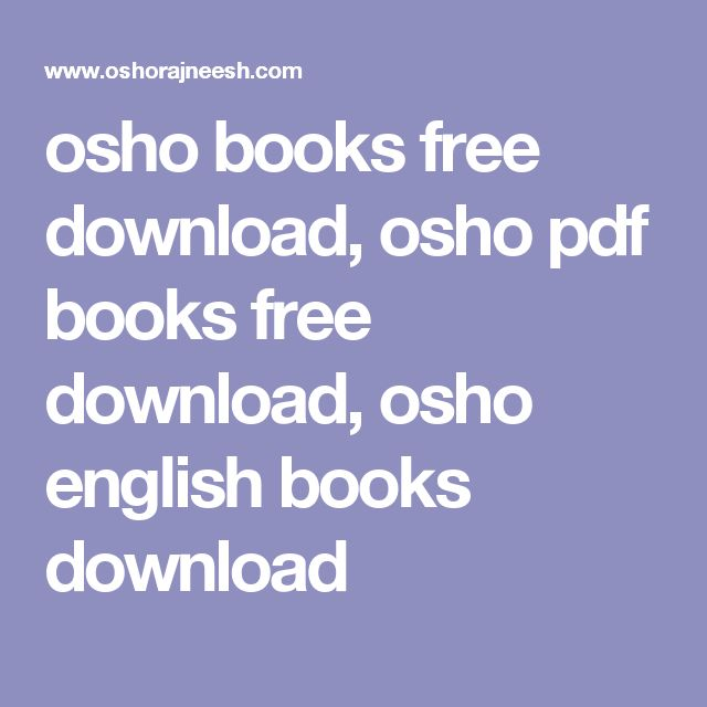 osho books free download, osho pdf books free download, osho english books download