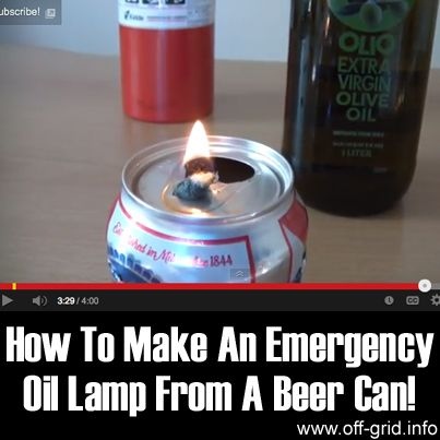 EMERGENCY LAMP FROM A CAN