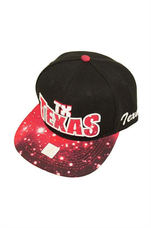 Texas Galaxy Snapback Hat In Black   Black, Snapback hats and Products