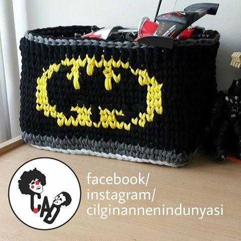 crochet batman box, batman örgü kutu