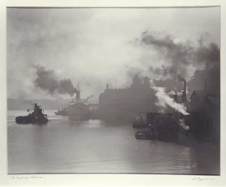 A Sydney Waterside, Darling Harbour Photograph c1925 by Harold Cazneaux, 1878-1953 By Permission of the Cazneaux family and of the National Library of Australia