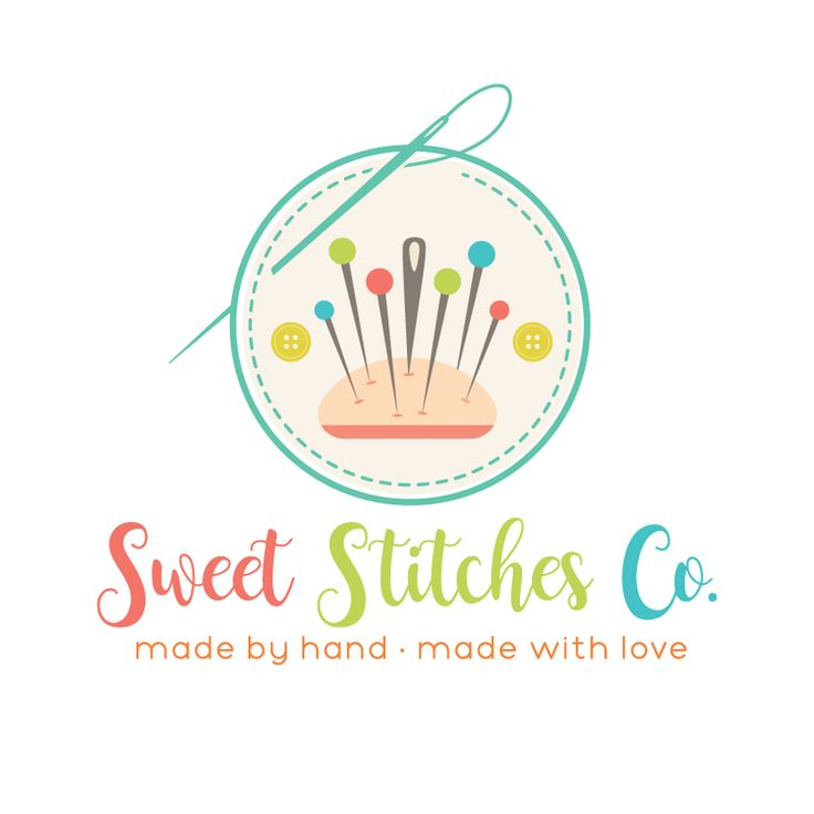 Sewing Premade Logo Design - Customized with Your Business Name