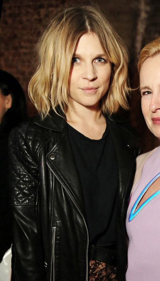 Le Fashion Blog Parisian Cool Clemence Poesy Wavy Bob Quilted Leather Mytheresa Party Paris 2014 Short Textured Wavy Bob Haircut Hairstyle Q...