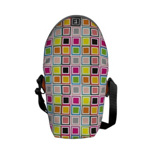 Cubes colors messenger bags