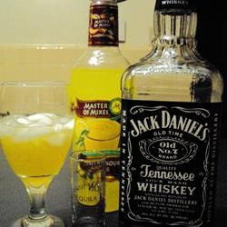 Whiskey Sour...plain & simple...just like this! ...Ingredients:: 2 fluid ounces whiskey ...       1 fluid ounce sweet and sour mix ...     Directions::         Pour whiskey and sweet and sour over ice cubes in a squat, old-fashioned glass. =)