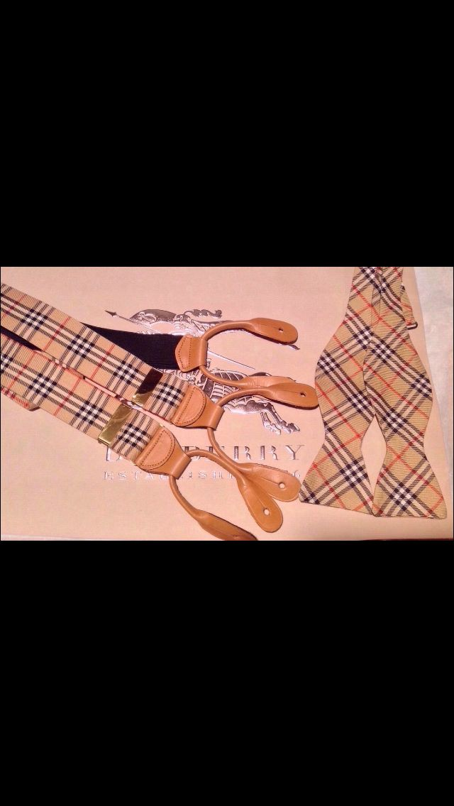 BURBERRY Bow Tie and Suspenders
