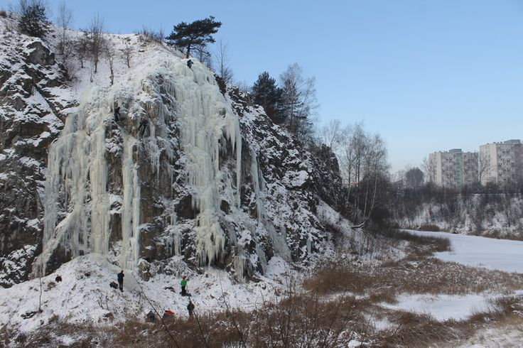 Icefall in Kielce, winter 2017
