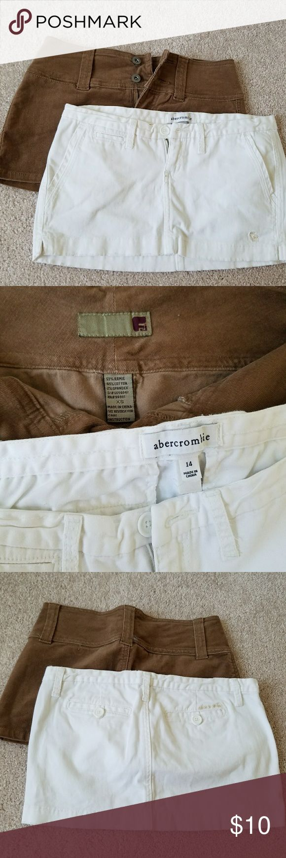 Abercrombie Girls skirts Perfect condition, brown one is not Abercrombie , both fit like Xs. Come together as bundle Abercrombie & Fitch Skirts Mini