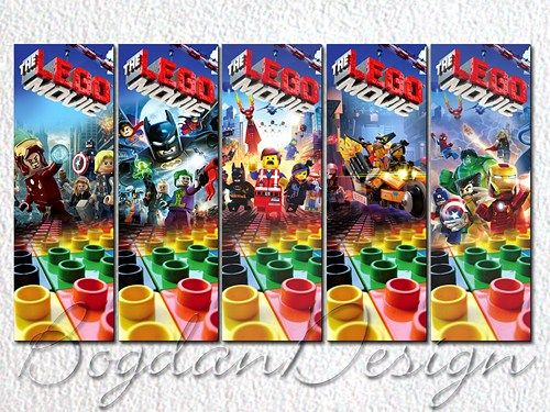 Lego bookmarks, Lego party favor
