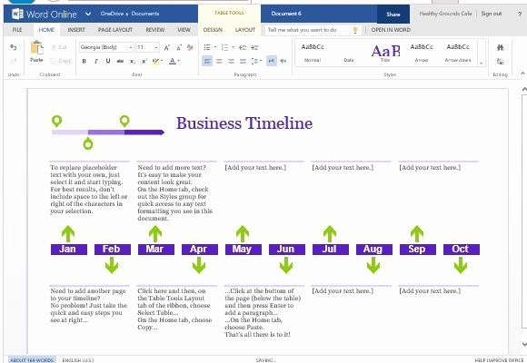 create a timeline in word new business project template for line 2020 words online