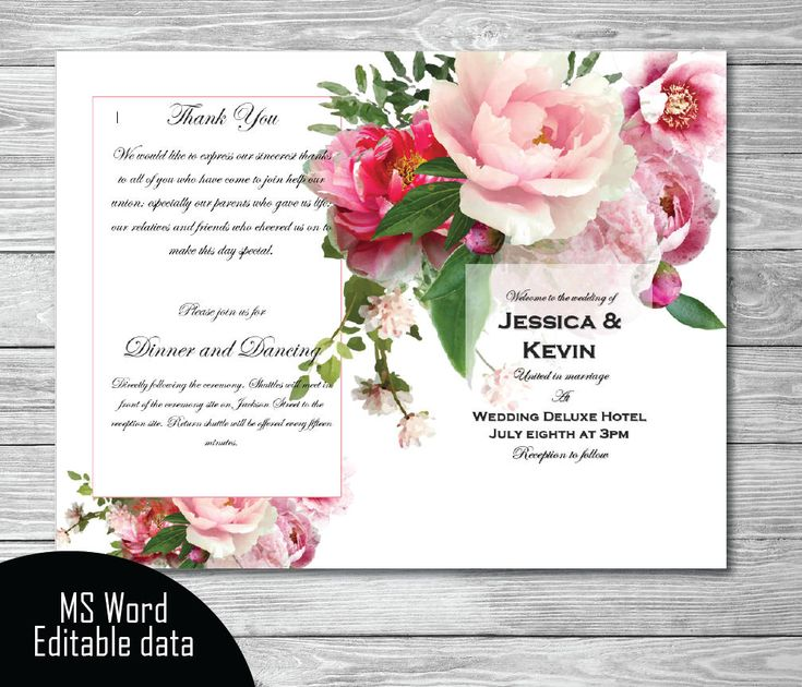 The 25+ best Wedding program template word ideas on Pinterest - microsoft word greeting card template