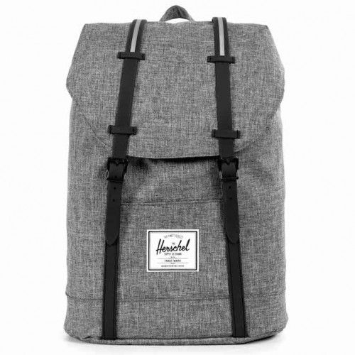 Plecak Herschel - Retreat Raven Crosshatch  / Black Rubber / 3M18L
