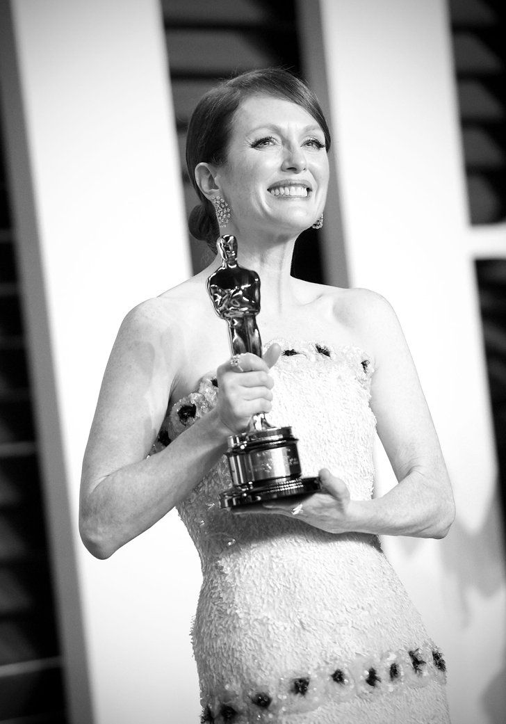 Pin for Later: Stunning Oscars Pictures You Haven't Seen Yet Julianne Moore