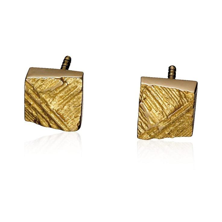 FACET  Design Björn Weckström / Gold Earrings / Lapponia Jewelry / Handmade in Helsinki