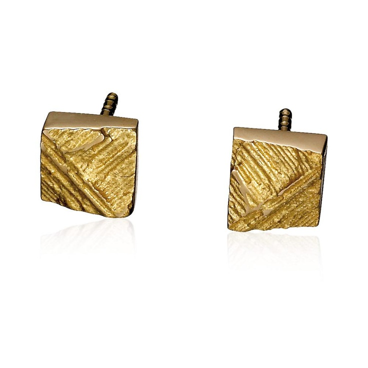 FACET  Design Björn Weckström / Gold Earrings / Lapponia Jewelry / Handmade in Helsinki