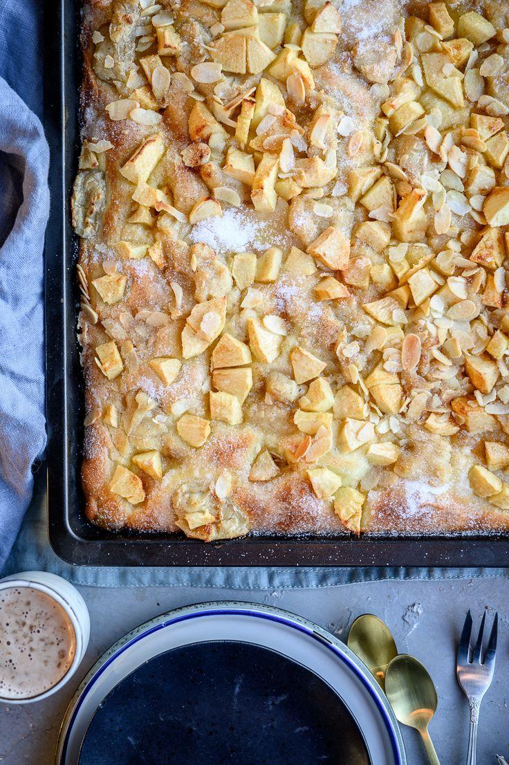 Baked apple butter cake