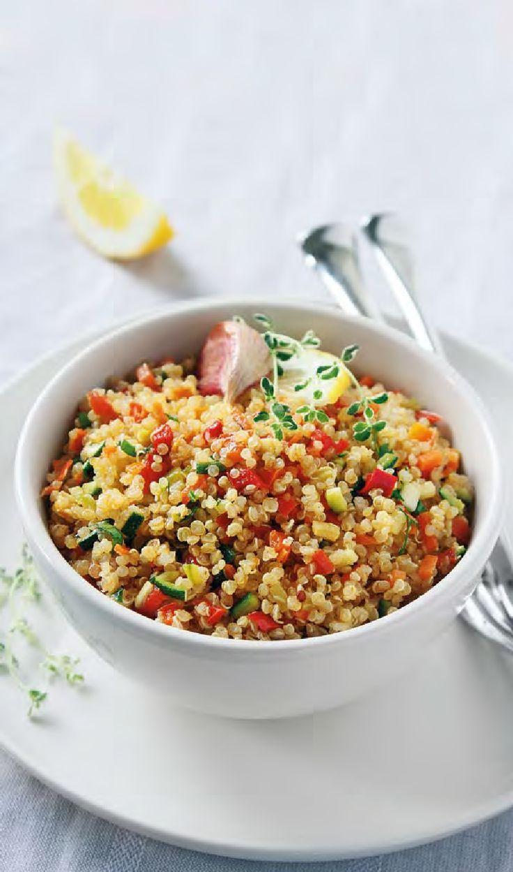 """Nel numero di giugno di """"Le Ricette PerdiPeso"""" Insalata di quinoa alla curcuma: piatto unico anti sovrappeso"""