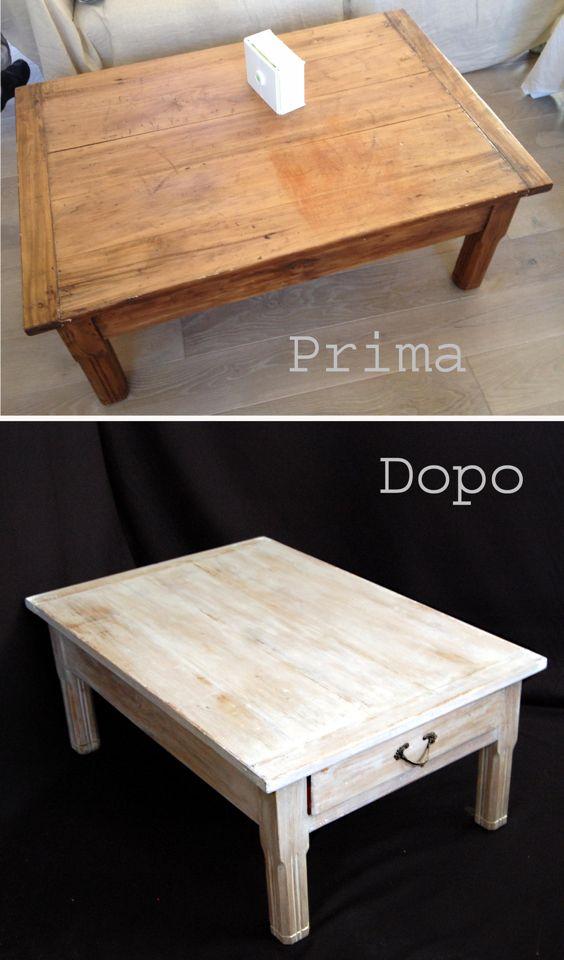 Restyle di un tavolino in legno con effetto shabby