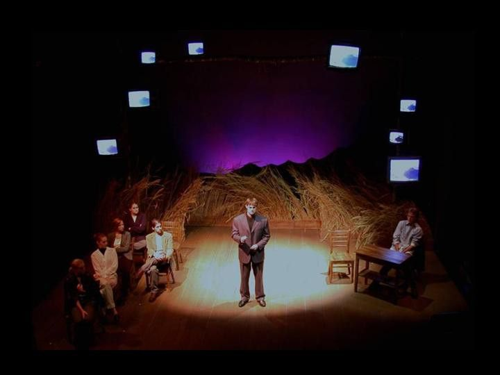 The Laramie Project. Tectonic Theater Company. Scenic design by Shawn Fisher.