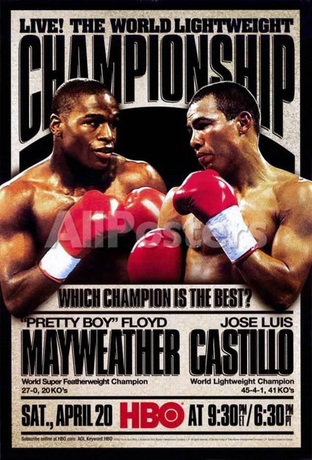 Pretty Boy Floyd Mayweather vs Jose Luis Castillo Movies Masterprint - 28 x 43 cm