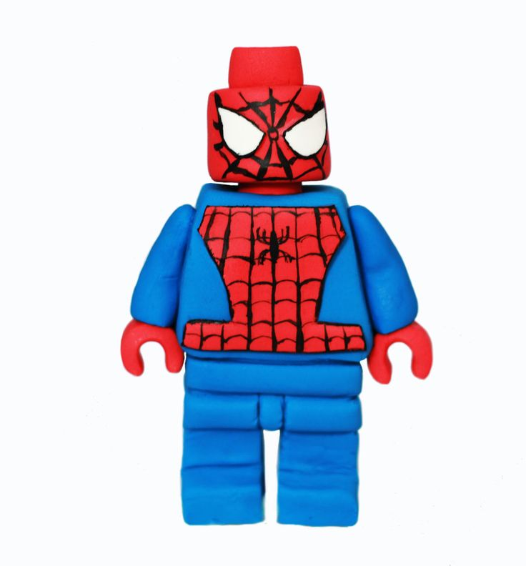 Edible Lego Spiderman cake topper. Lego Spiderman figurine for a cake. by 101cakes on Etsy