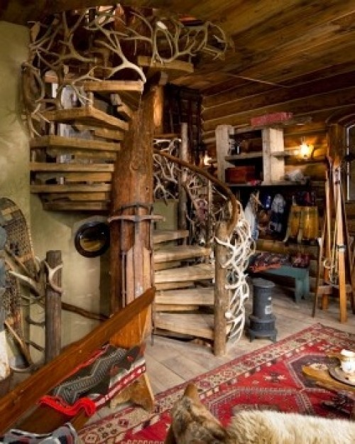 how to build a spiral staircase around a tree