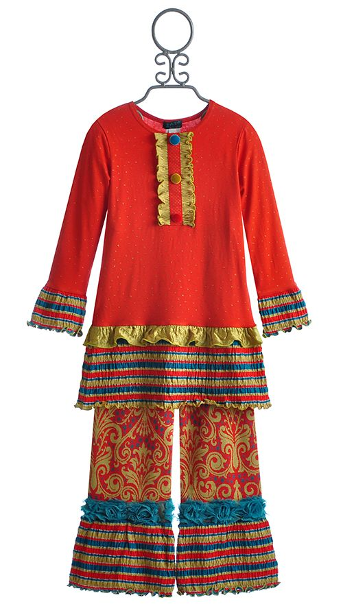 ZaZa Couture Valentine Red Girls Tunic and Pant $34.00