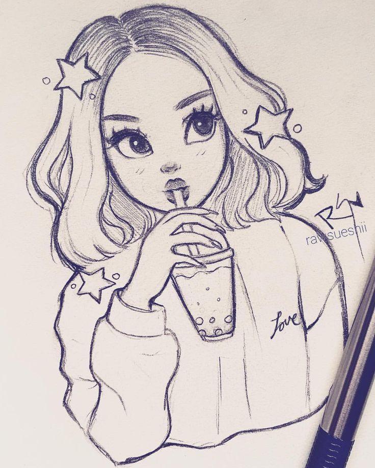 Красивые рисунки карандашом для срисовки легкие и крутые девушки