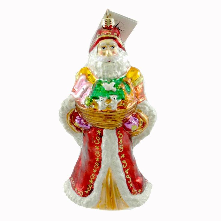 Christopher Radko Presenting Noah Glass Ornament Height: 8.75 Inches Material: Glass Type: Glass Ornament Brand: Christopher Radko Item Number: Christopher Radko 100250 Catalog ID: 21049 New With Tag.