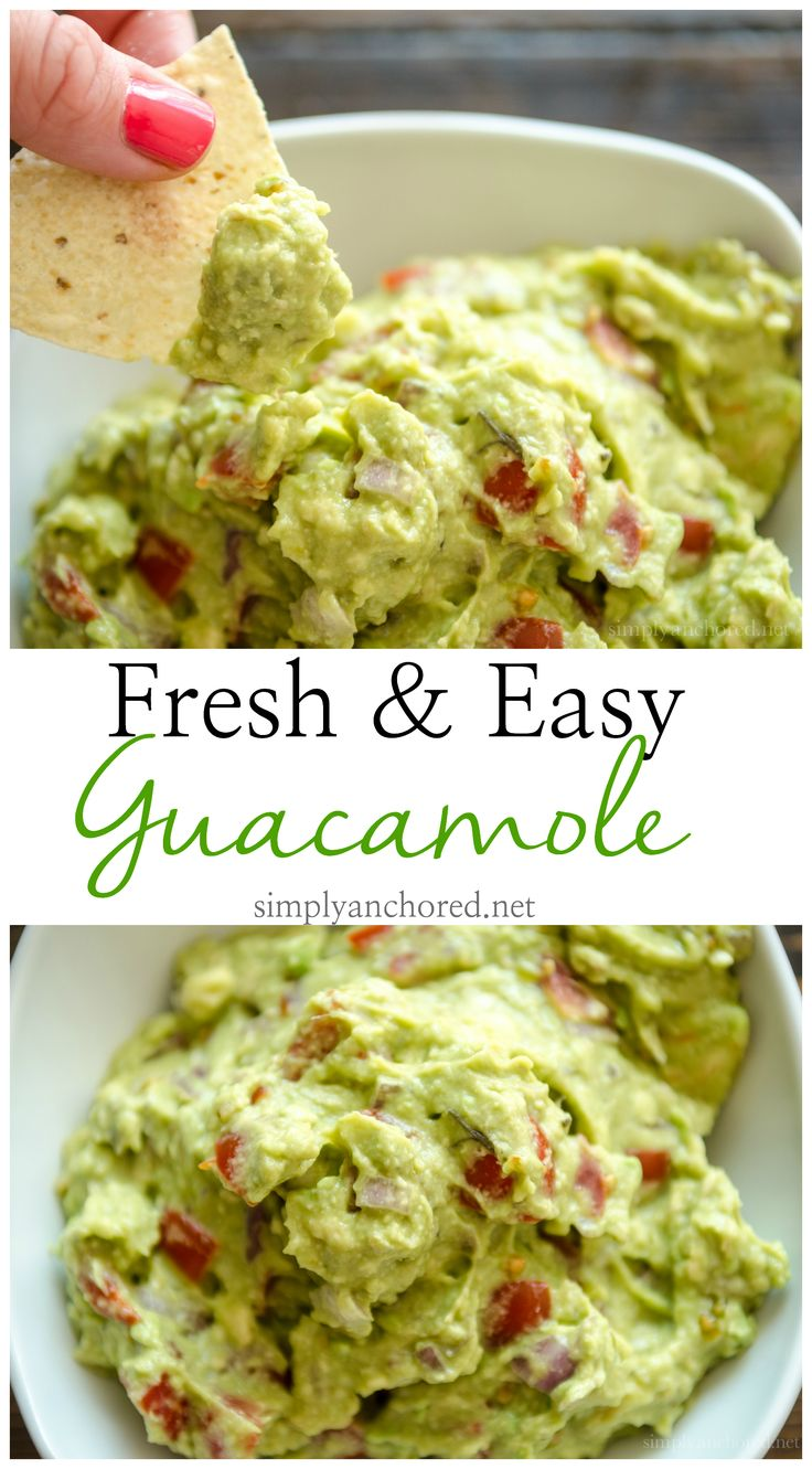 A super easy and fresh way to make guacamole! 21 Day Fix approved!