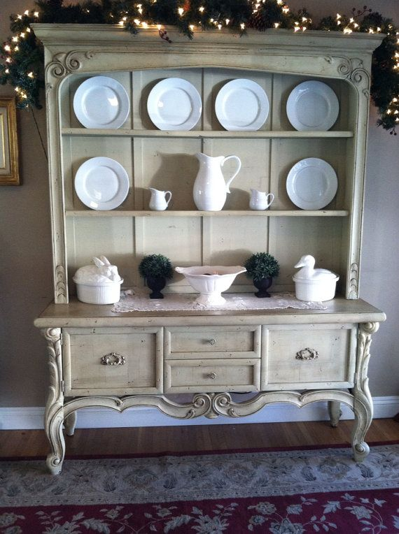SOLD French Country China Hutch by galeckigirls on Etsy, $450.00 - love this!!!