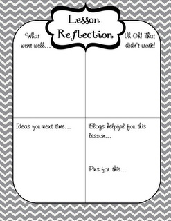 Lesson reflection freebie by www.firstgradeglitterandgiggles.blogspot.com