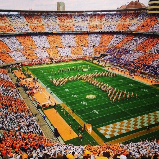 Neyland Stadium The Checkerboard
