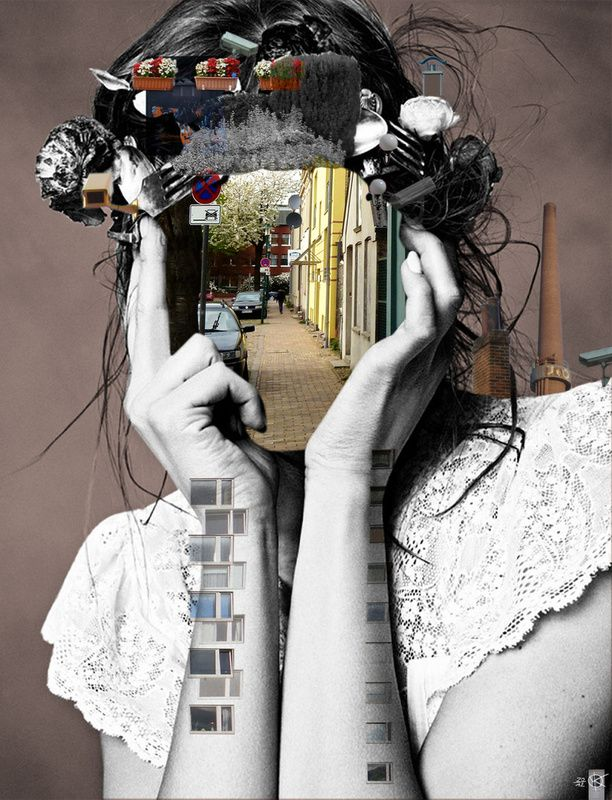 This is a mixed media collage that really intrigues me, and makes me want to learn more about this artist.