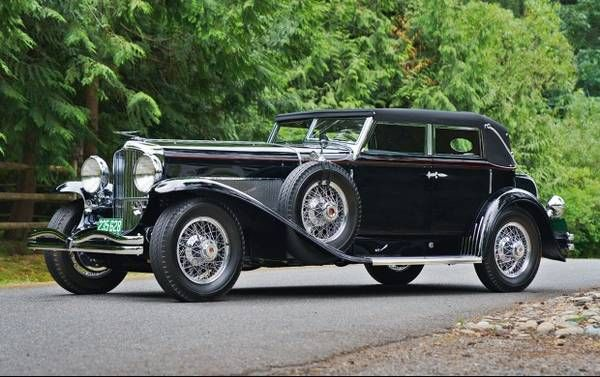 Gangster Bought Duesenberg Model J Sj Heads To Auction Cars For