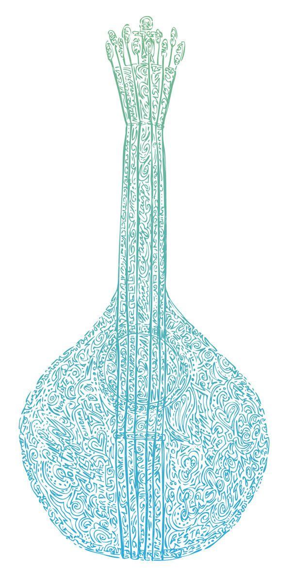 Guitarra Portuguesa by Hugo Silva, via Behance
