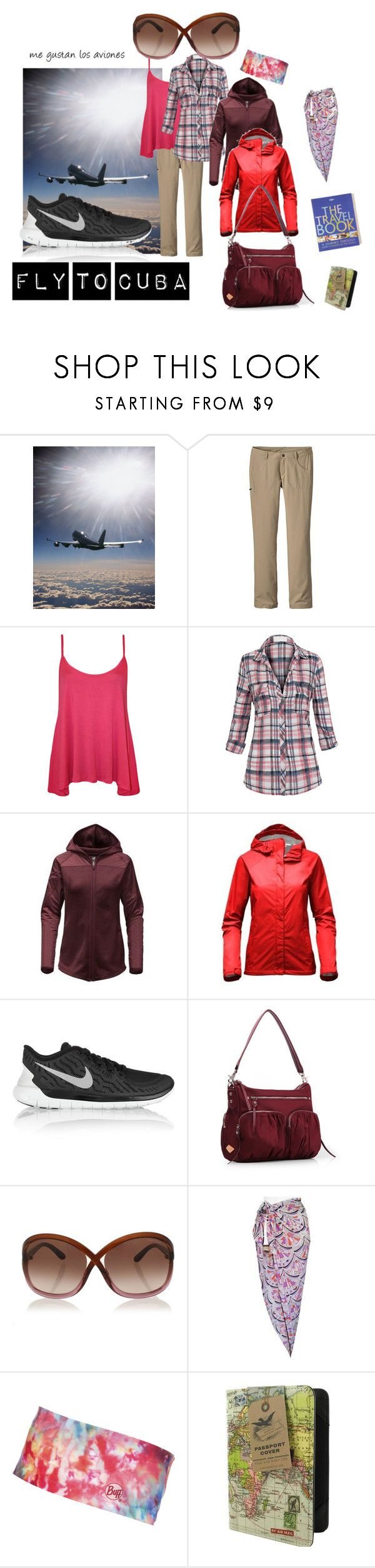 """""""Fly to Cuba"""" by majannsche ❤ liked on Polyvore featuring Patagonia, WearAll, Hot from Hollywood, The North Face, NIKE, Tom Ford, Emilio Pucci, BUFF, Lonely Planet and travel"""