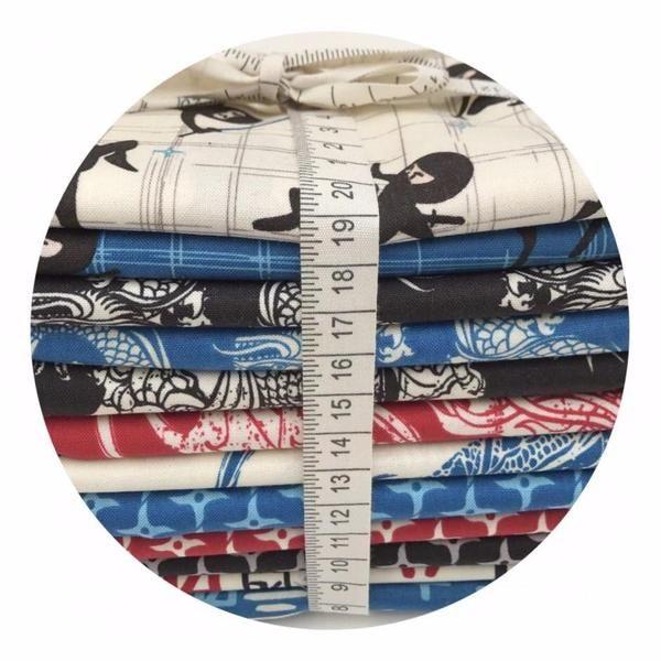 12 Fat Quarter Bundle - Year of the Ninja Collection - Riley Blake Des – Pins & Needles Fabrics