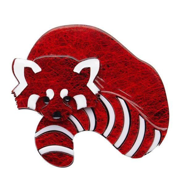Radbert the Red Panda Brooch